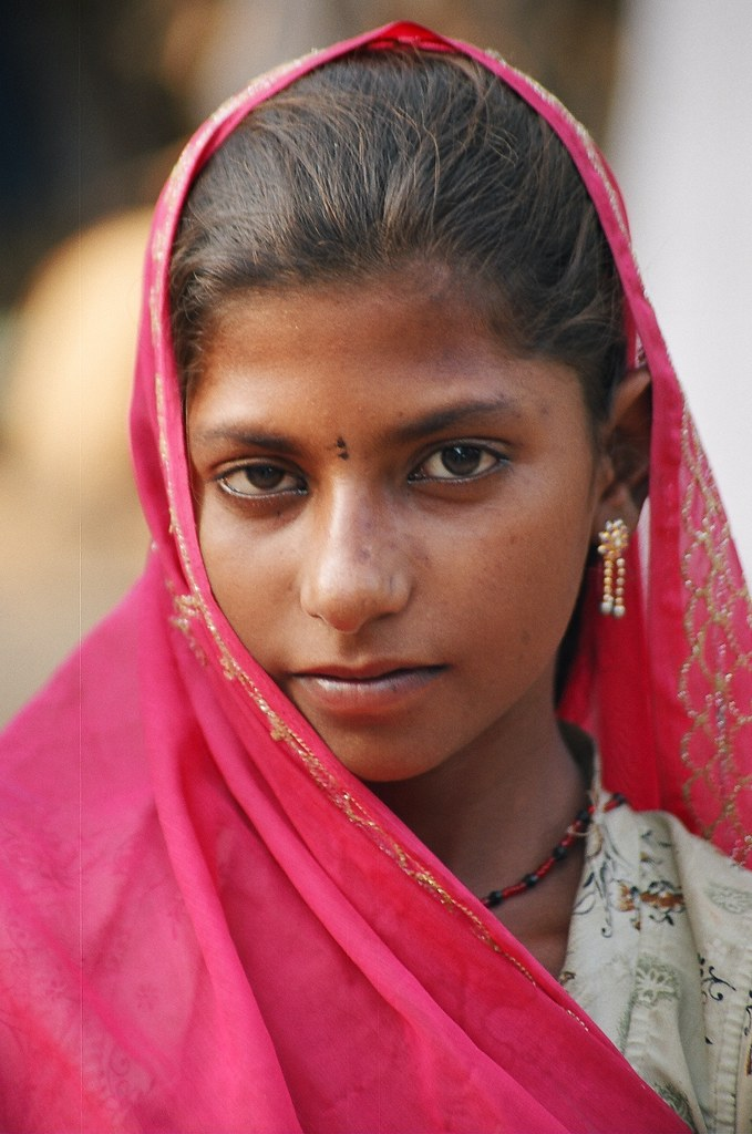 Girl From A Small Village, Rajasthan, India  Ian Cowe -3755