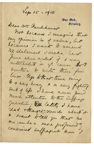 Dame Ethel Mary Smyth letter | by i.minerva luvs Jackson Library