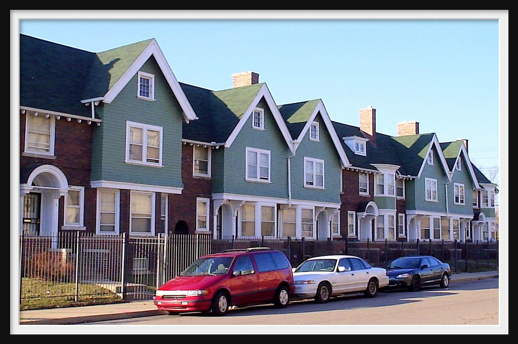 Row Houses Along Gladstone Detroit Mi Detroit Is Known