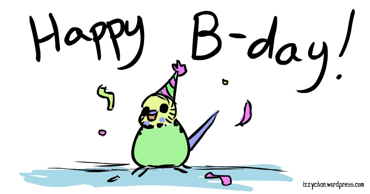budgie birthday