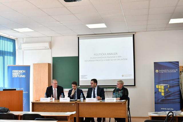 """Predstavljanje političke analize: """"Ciljevi održivog razvoja u BiH: Reformski procesi u koje su svi uključeni"""""""