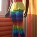 Rainbow Spiderweb Crochet Pants