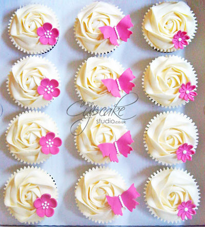 White Amp Hot Pink Cupcakes