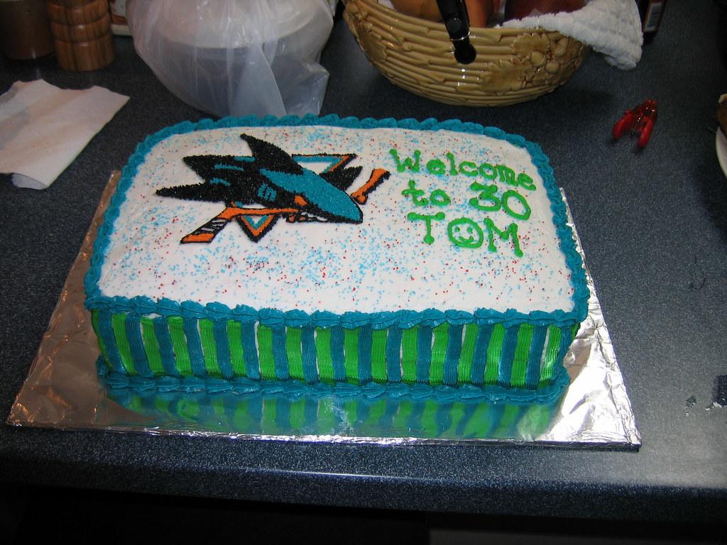 Toms Sj Sharks Birthday Cake Judy Ann Warren Flickr