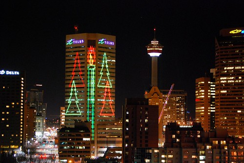 Telus Tower Christmas Lights I Tried Out The New Picnik