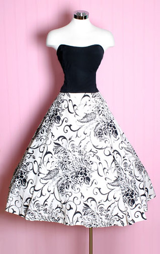 1950\'s strapless swing dress | Posh Girl Vintage.com | Flickr