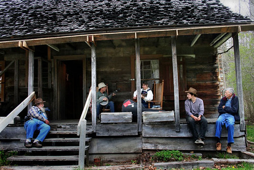 Porch Music | Friends and volunteers gather on the front