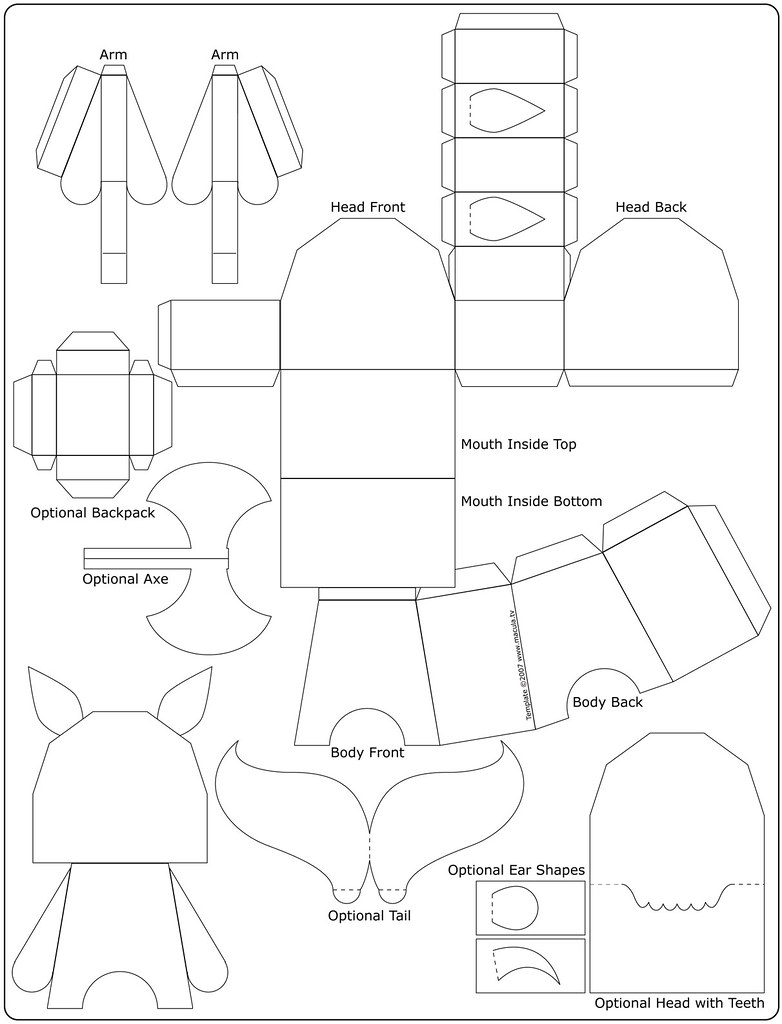 squealer paper toy template 150dpi will print on pa flickr. Black Bedroom Furniture Sets. Home Design Ideas
