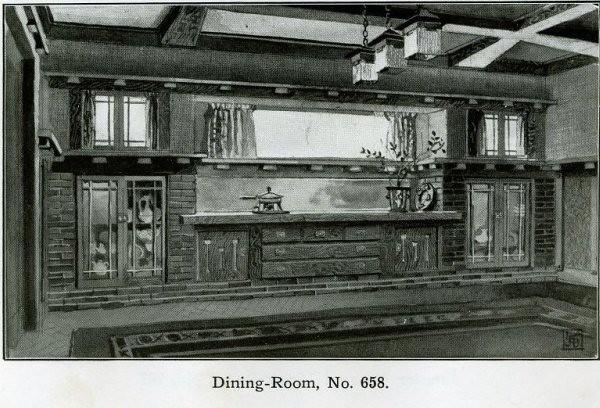 Arts And Crafts Dining Room Interior - 1910