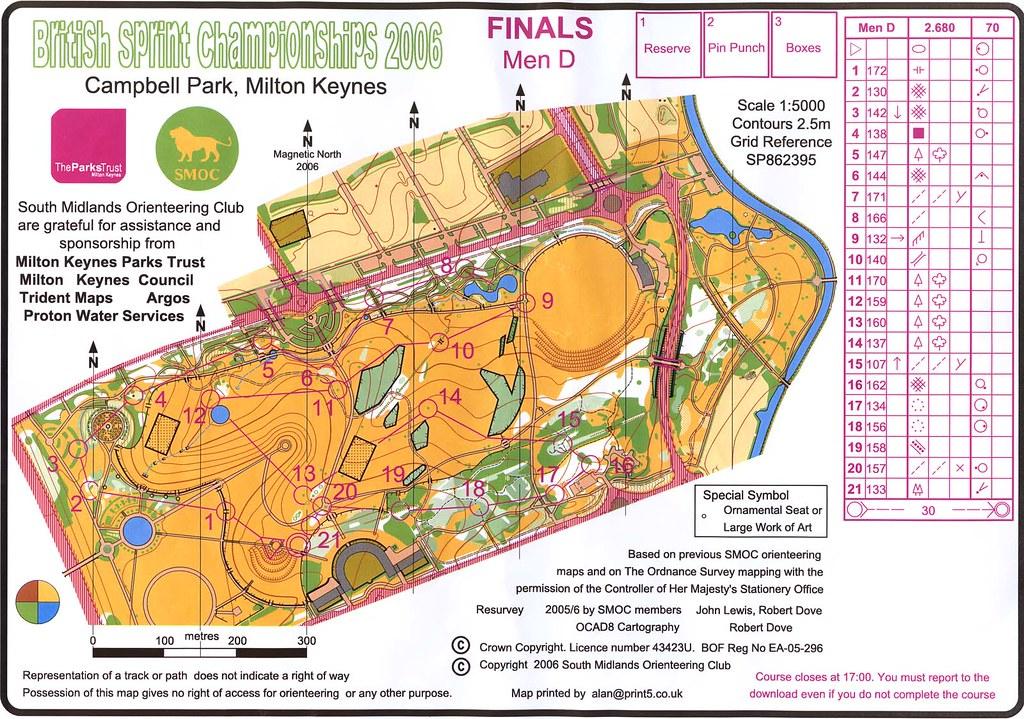 Campbell Park Milton Keynes Orienteering Map Campbell Pa Flickr