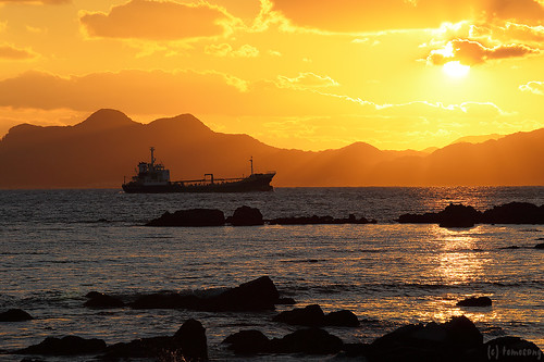 Sunset at Shikanoshima Island