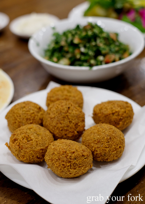 Fresh fried falafel at Jasmin1 in Punchbowl Sydney