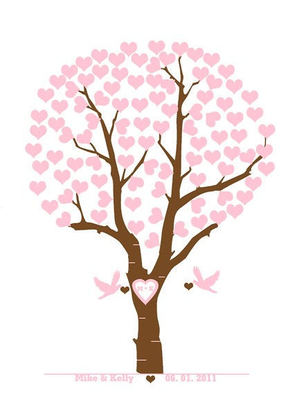 personalized wedding tree with love birds wedding tree wit flickr