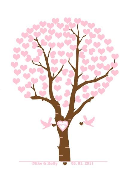 personalized wedding tree with love birds | Wedding tree ...