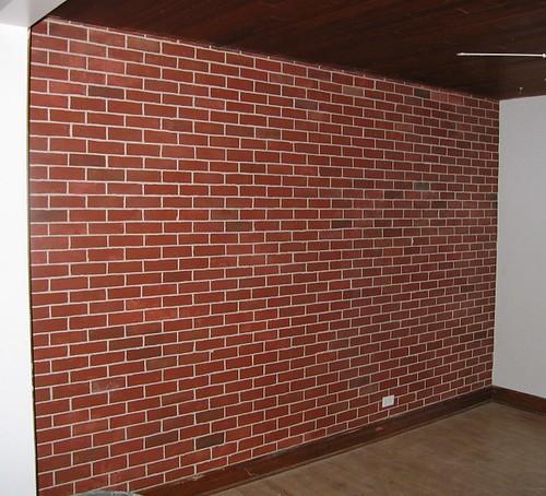 Fausse brique mur de fausse brique katia desgranges Mur en fausse brique