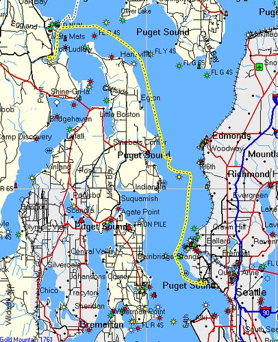how to get from port angeles to seattle