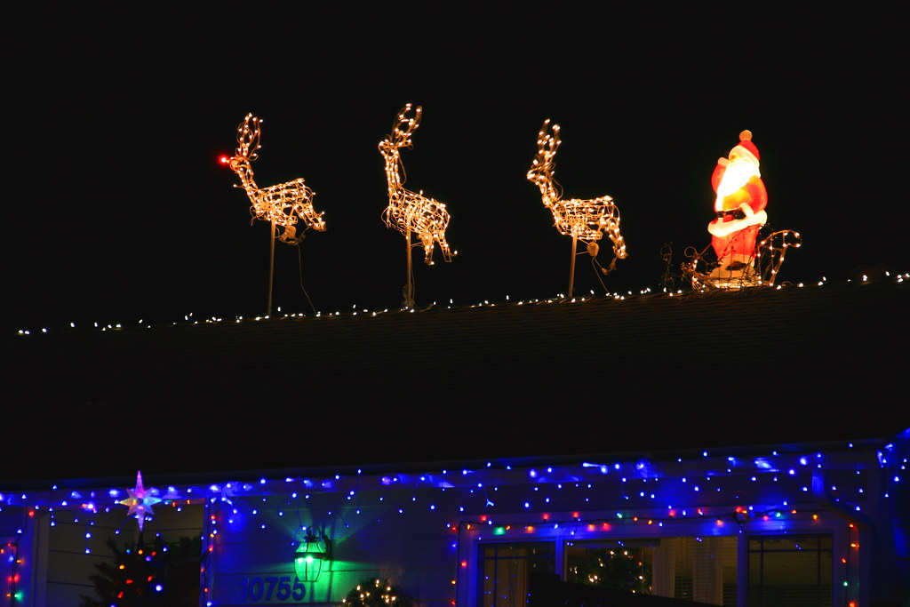 Up On The Housetop Reindeer Pause Out Jumps Good Ol San