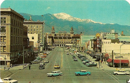 Pikes Peak Avenue, Colorado Springs, CO. 1962 | by Roberto41144