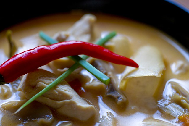 Tom Khaa Gai | ... Thai spicy chicken soup with lemon grass ...