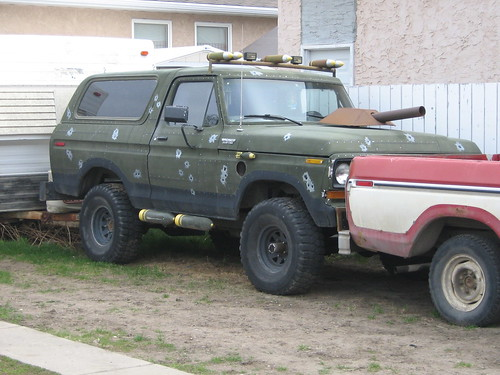 1978 Ford Bronco with army theme | 1978 Ford Bronco with ...