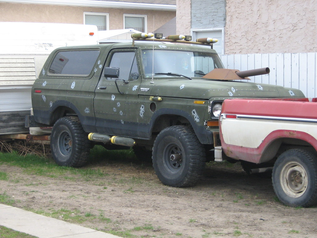 1978 Ford Bronco With Army Theme 1978 Ford Bronco With
