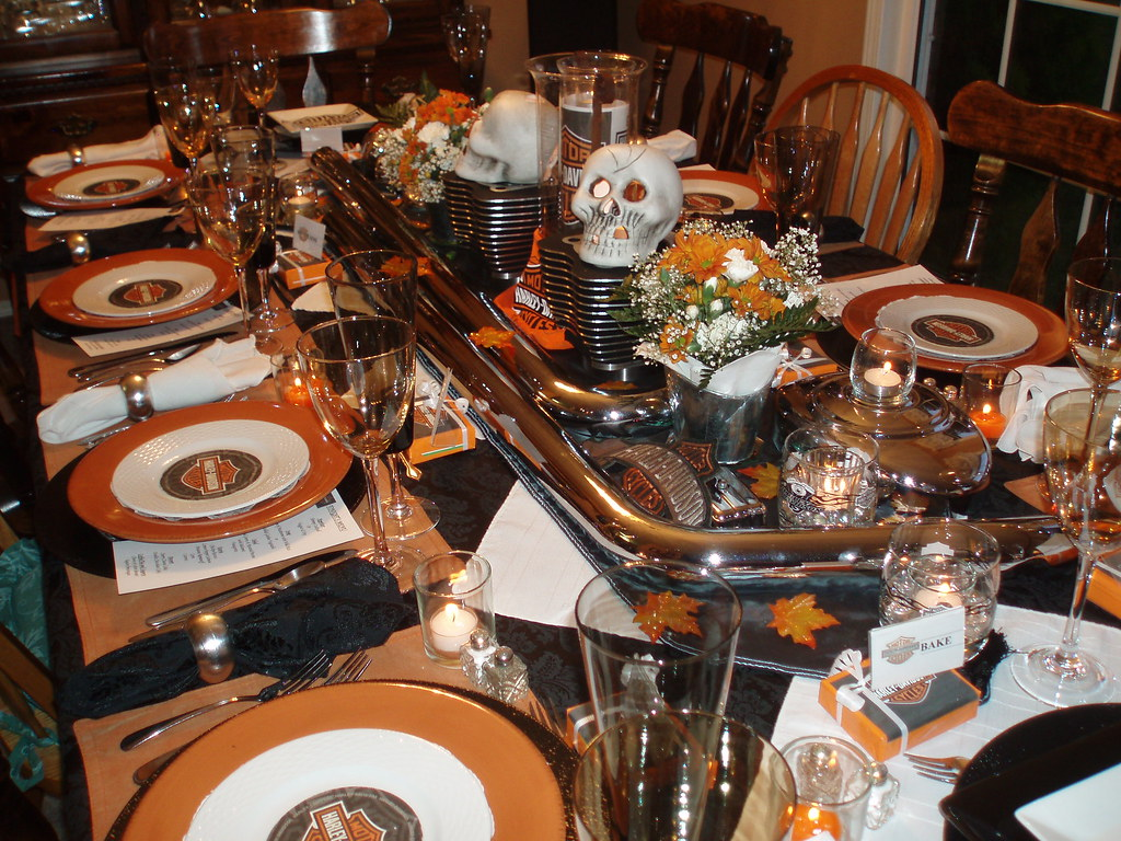 Harley Davidson Table Setting My Husband Challenged Me