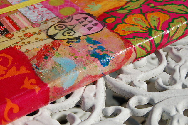 The Spine of my Pimped Moleskine Notebook, photo and patchwork by iHanna #patchwork #diy