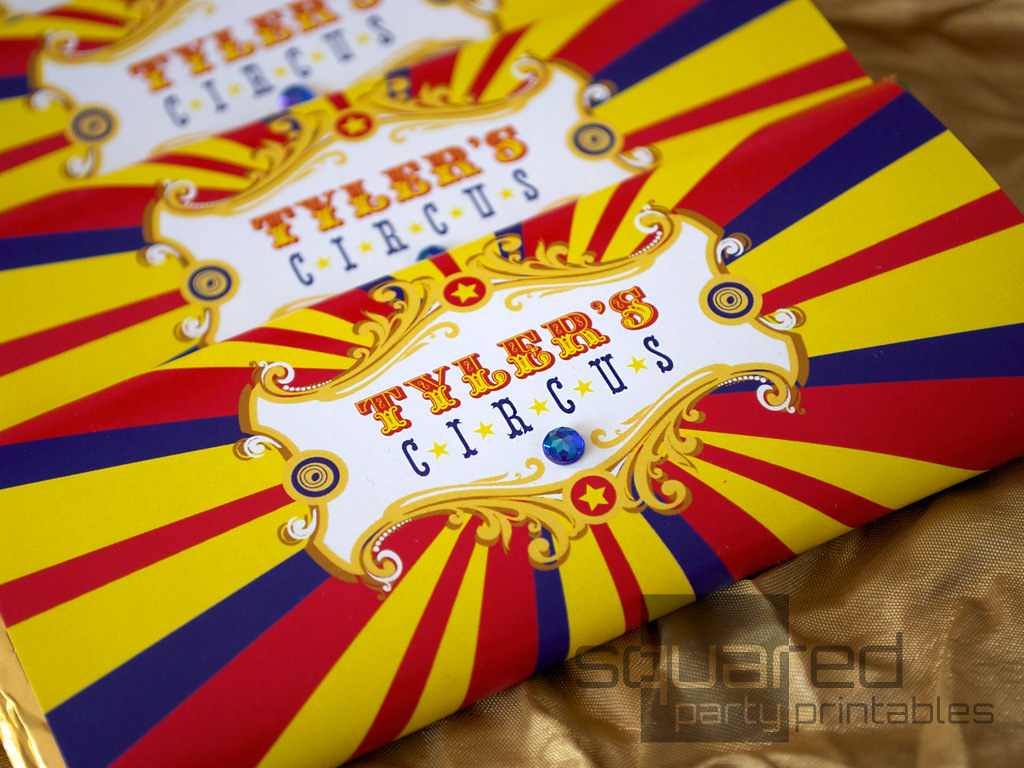 Vintage Luxe Circus Party Candy Bar Wrapper - Vintage Carn… | Flickr