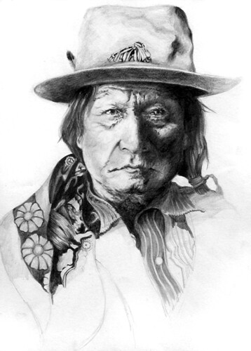 how to draw a native american chief