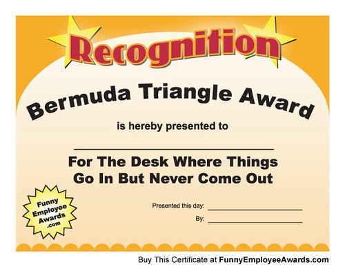 Fun Certificate - Funny Award Certificates | Is there someon… | Flickr