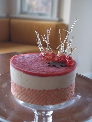 Chocolate Snowflake Mousse Cake