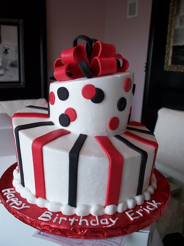 Black And Red Topsy Turvy Man S Birthday Cake Simple And