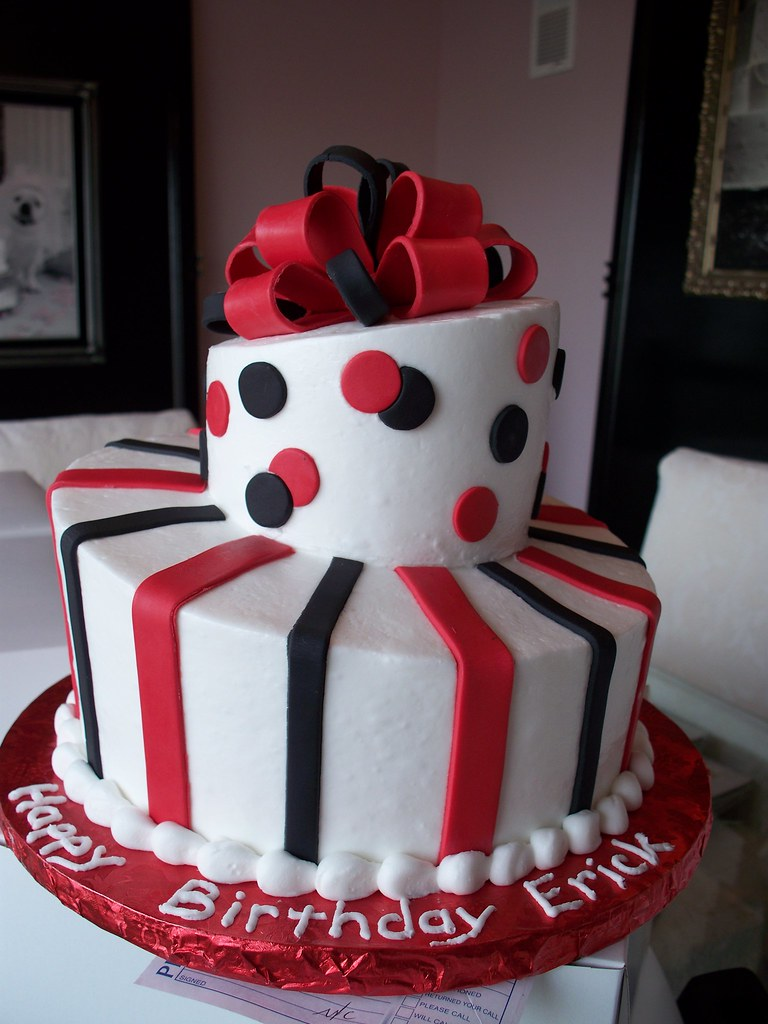Special Cake Design Kl : Black and Red Topsy Turvy Man s Birthday Cake Simple and ...