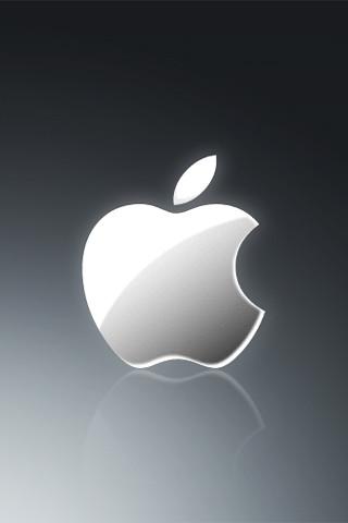 Apple grey iphone wallpaper 320x480 apple iphone - Original apple logo wallpaper ...