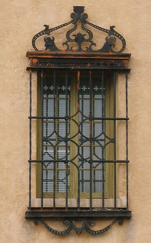 Window With Decorative Security Bars Santa Fe New Mexico