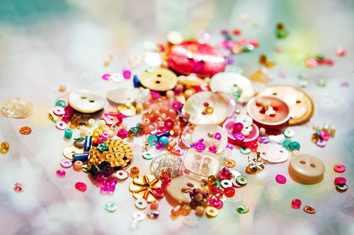 Some of my buttons, sequins and beads | by louisahennessysuɹoɥƃuıʞıʌ