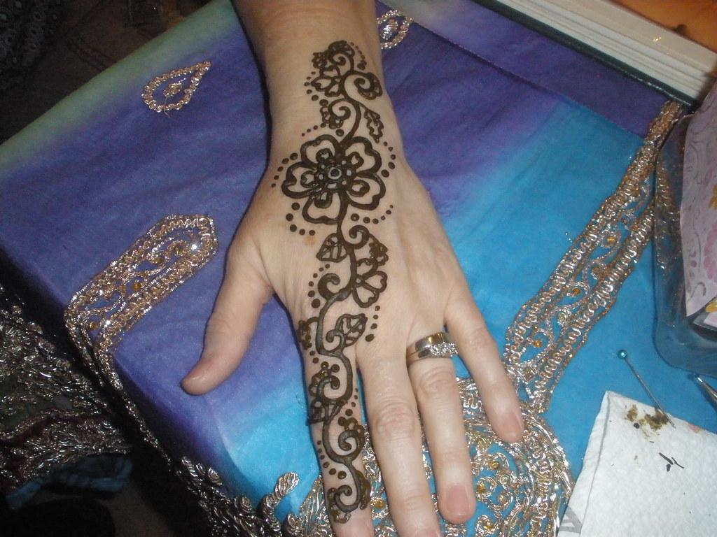 Henna Flower Design Henna Tattoo Design By The New Mexico Flickr