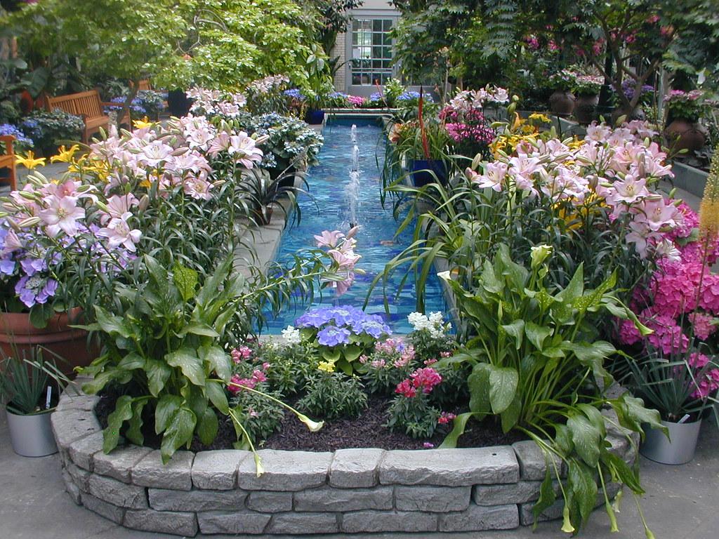 Botanical Garden Fountain Tim Flickr