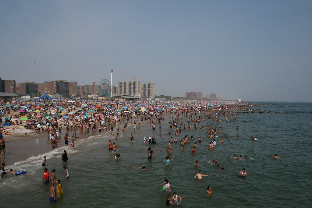At the beach coney island - 3 5