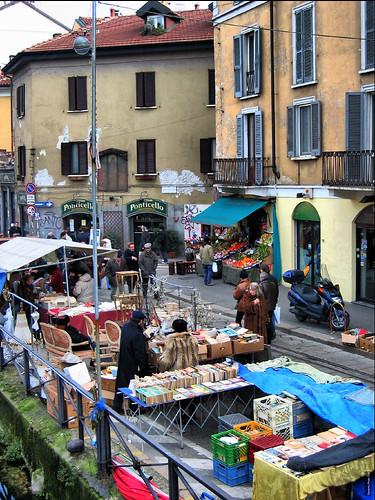 Flea Market, Navigli, Milan
