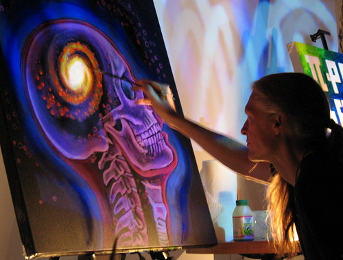 Psychedelic Spirit Paintings Alex Grey Art Gallery: Alex Grey - Live Painting