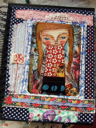 Journal - mixed media fabric art | by Susana Tavares
