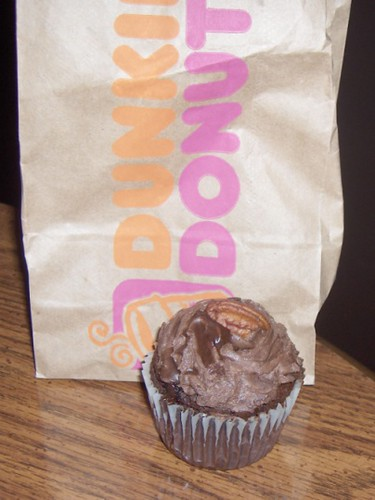 "Sad little Dunkin' Donuts Cupcake | ""Quadruple Chocolate ..."
