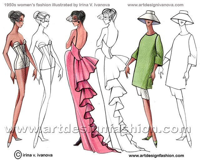 Women S Fashion 1950s 20th Century Women S Fashion Decade Flickr