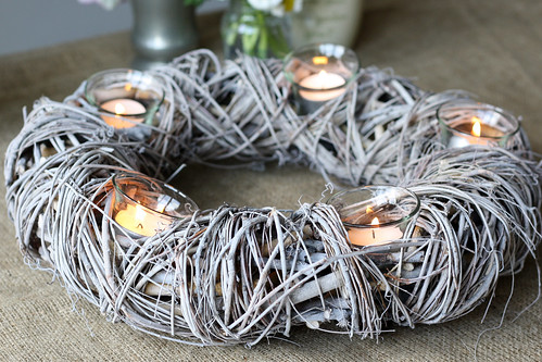 Rustic Candle Wreath | by The Wedding of my dreams