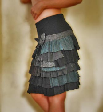 Skirt By Recycling T Shirts Made With Different Kind Of