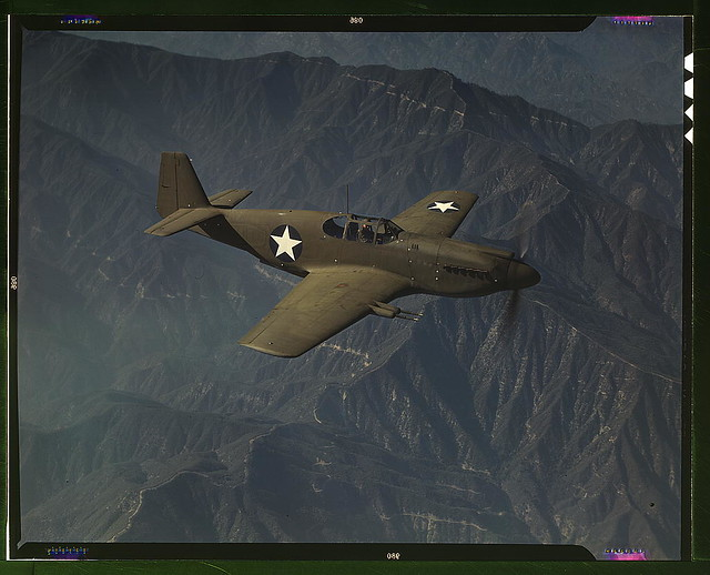 P 51 Quot Mustang Quot Fighter In Flight Inglewood Calif The Quot M