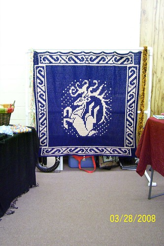 Tapestry Crochet - Leaping Dear - 5' square2 | by Aberrant Crochet & Pixie Worx!
