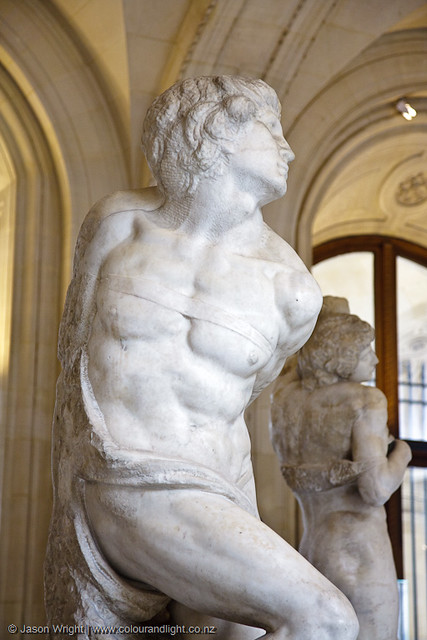Michelangelo images - Michelangelo Slaves Louvre 2009 Bound Slave Wih Dying