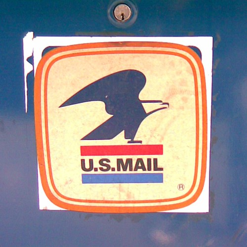 old us mail logo on a street mailbox the old us mail logo flickr